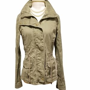 H&M DIVIDED Women's Utility Jacket Olive Green Size 4